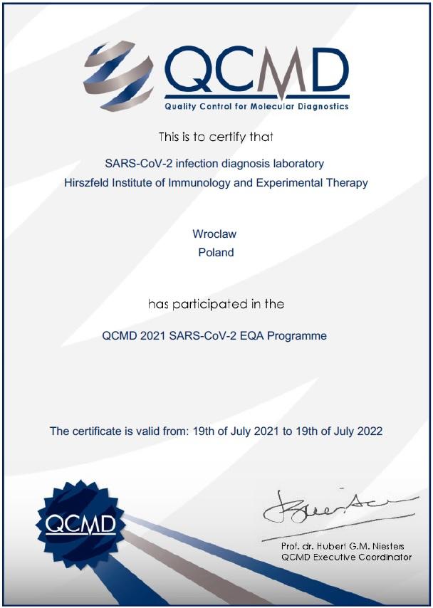 QCMD 2021 SARS-CoV-2 EQA Programme